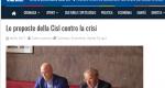 Rete8.Conferenza stampa  con il Professore Giuseppe Mauro