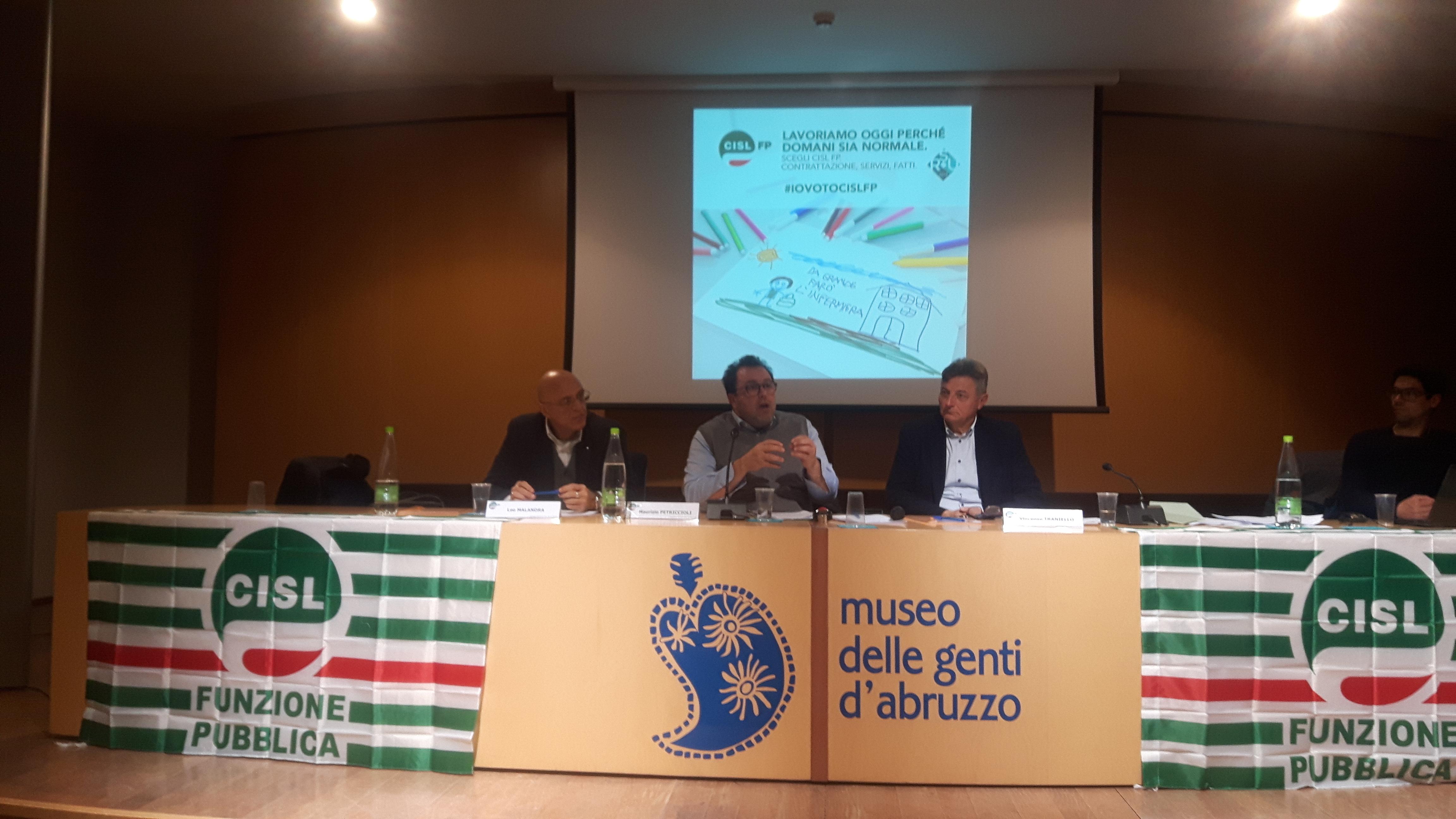 Forte affermazione della CISL FP alle elezioni delle RSU nel Pubblico Impiego in Abruzzo