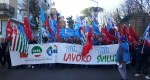 Manifestazione CGIL-CISL-UIL Abruzzo