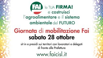 Protesta dei lavoratori del settore agroalimentare e pesca di Abruzzo e Molise