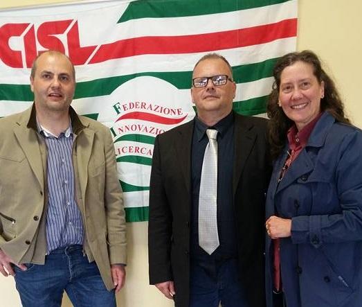 FIR Cisl Abruzzo-Molise: Gaetano Valentini confermato Segretario generale